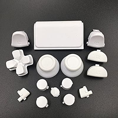 Dpad R1 L1 R2 L2 Trigger Button Thumbsticks for Sony PS4 Pro JDS040 JDM 040 Controller Dualshock 4 Pro White