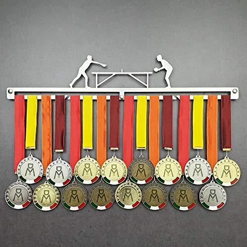 Tennis Table - Medagliere da Parete - Porta medaglie Ping Pong - Sport Medal Hanger - Display Rack (450 mm x 100 mm x 3 mm)