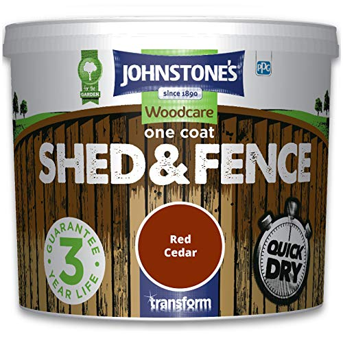 Johnstones Woodcare One Coat Shed & Fence Paint Garden Outdoor Fencing UV Protection...
