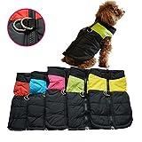 OULII Vêtements pour animaux de compagnie pour chien chat chiot chien manteau veste Ski pour animaux de compagnie gilet imperméable - taille L (jaune)