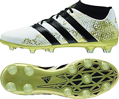 adidas Ace 16.2 Primemesh Fg/AG, Scarpe da Calcio Uomo, Bianco (Ftwr White/Core Black/Gold Met.), 40 EU