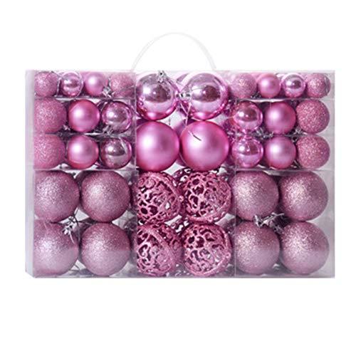 Alicer - Palline di Natale, 100 pezzi antischeggia, set di decorazioni per l'albero di Natale, decorazioni natalizie, Not null, rosa chiaro, Taglia unica