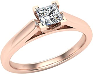 Best rose gold prong setting Reviews