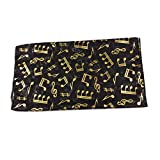 Mytoptrendz® Classic Unixes Black Music Note Foil Print Scarf Group Choirs Scarves & Wrap