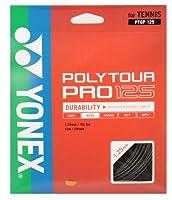 ヨネックス(YONEX) 硬式テニス ストリングス ポリツアープロ 125 (1.25mm) PTGP125 グラファイト ゲージ: 1.25mm