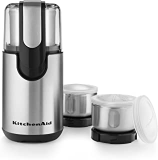 KitchenAid BCG211OB Blade Coffee and Spice Grinder Combo Pack - Onyx Black