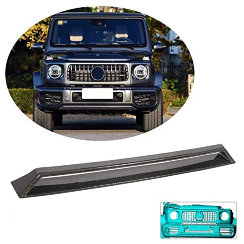 LY-QCYP Front Bumper Grill Vent, fits for Mercedes-Benz G Wagon G500 G550 2019 Carbon Fiber Front Chin Air Grille Cover CF Fender Trim