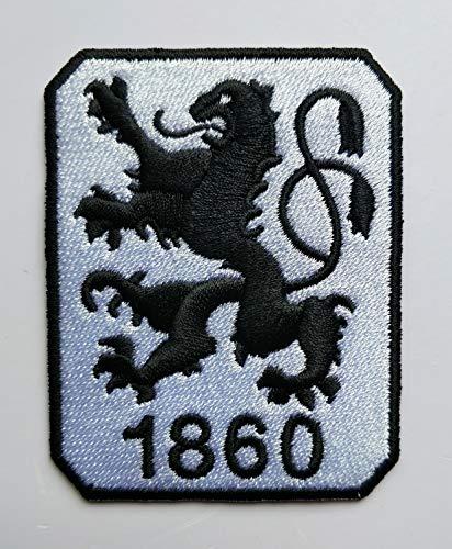 2stk TSV 1860 Muenchen Aufnäher Patch Football Fussball Soccer Club Iron on bügelbild aufbügler Badge
