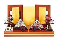 雛人形 真多呂 木目込み 高級 逸品本金仕立雛・親王セット 本金和泉雛セット モダン