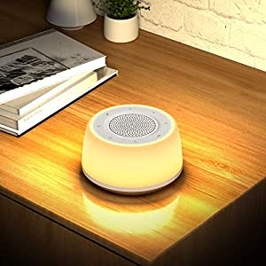 Sound Machine with Night Light, White Noise Machine Sleep for Baby Kids Adults, Sleep Sound Machine with16 Soothing Sounds for Sleeping,Noise Canceling, Full Touch, Timer Sleep Function