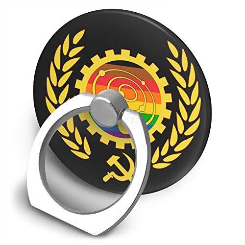 CHENMINGGAO Fingerring 360 grados Drehbare Handy soporte para teléfono móvil, ajustable Abs-Ständer, Fully Automated Luxury Gay Space Communism Ring-Ständer, mango compatible para todos los iPhones, tablets