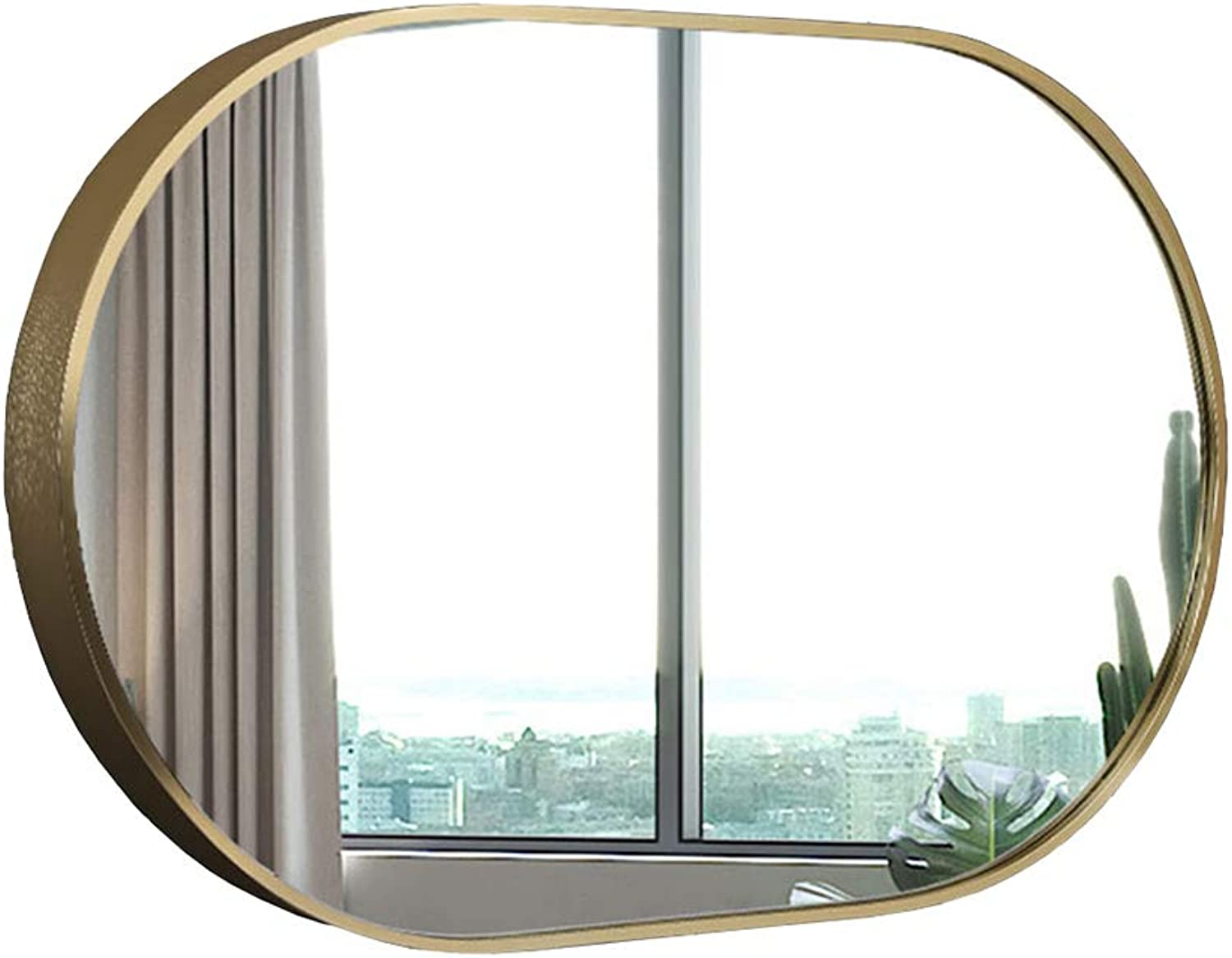 Wall Mounted Mirror Dressing Mirror with Metal Framed for Bedroom or Bathroom Mirror,Horizontal or greenical 20.5 x32.5