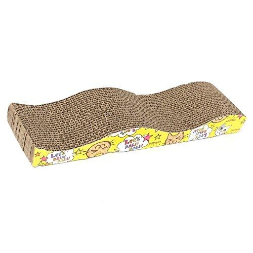 Jouet pour soins de griffes de chat - TOOGOO(R)Pad scratch board ondule lit scratcher griffes mat soins pour chat chaton