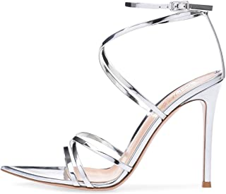 Women's Sexy Ankle Strap Gladiator Stilettos Pointed Open Toe High Heels Sandals