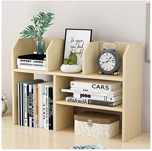 Skrivbordshyllor trä skrivbord bokhylla skrivbordsorganisatör kontor förvaring ställning bokhylla visningshylla kontorsmaterial skrivbord organisering tillbehör skrivbord förvaring organisatör (färg: Naturlig B – naturlig B