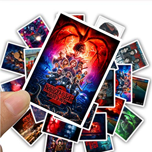 25Pcs/Pack Stranger Things Season 3 Stickers for Wall Luggage Skateboard Laptop Motorcycle Snowboard Car Guitar TV Movie Sticker