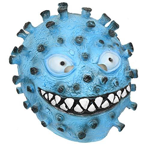 VALICLUD Maschere in lattice di Coronavirus Maschera divertente Maschera creativa Copricapo Maschera per spettacoli Maschera da esibizione per feste in maschera Halloween (Colore casuale)