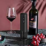 Abridor de vino eléctrico, sacacorchos automático recargable, abrebotellas de vino con cortador de papel de aluminio y cable USB para uso en bar en casa