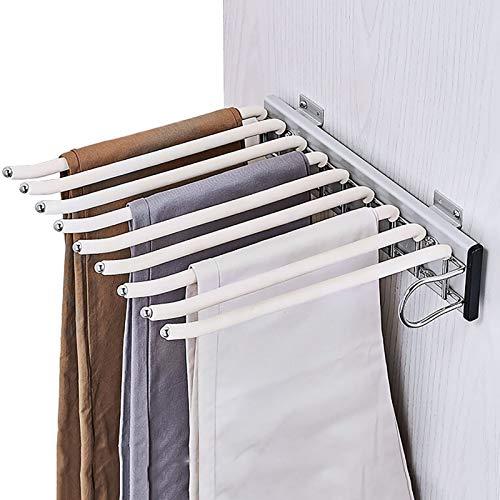 Porte-pantalon Alliage d'aluminium Télescopique Chargement latéral Multifonction Ménage À l'intérieur de l'armoire Porte-pantalon suspendu Porte-pantalon ( Couleur : B , taille : 35*32.6*7.6cm-b )