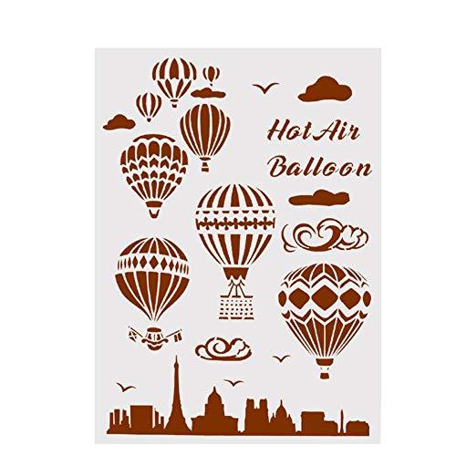 Babettew Papier Karte Malen Stempel DIY Handwerk Heißluftballon Scrapbooking Schablonen