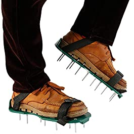 Beenle-Icey Chaussures Gazon Aerateur Pelouse Ventilateur Scarificateur pour Gazon Jardin Manuel Chaussures en Plastique…