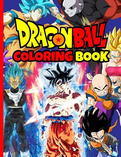 Dragon Ball Z Coloring Book: Manga Coloring Book With 48 Character Illustrations. Great Coloring Book For Adults or Kids