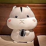 JKLI Plüschspielzeug Nette Hamster Puppe Plüschtier Ing Puppe Kinderbett Puppe Geburtstagsgeschenk Mädchen Grau Große Augen 80 cm Wangwu