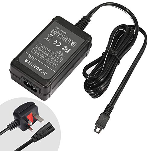SinFoxeon Camera AC Adapter Charger Kit Replacement for Sony AC-L200C AC-L25A AC-L25B AC-L25C Charger, Handycam Charger for DCR-DVD7 DVD105 DVD108 DVD203 DVD205 DCR-SR45 DCR-SX63 Cameras
