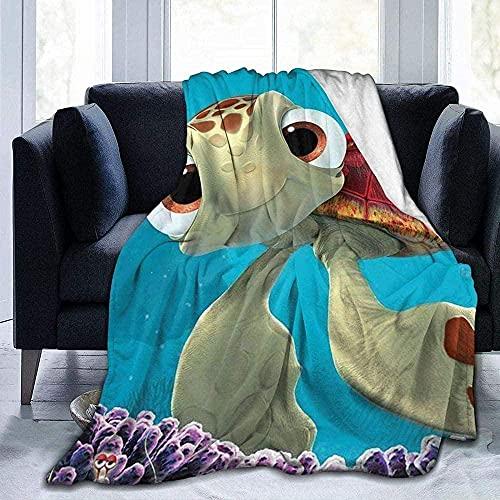 Flanelldecke,Suche Nach Nemo Meeresschildkröten Wolldecken Für Das Home-Office-Reisesofa Warme Und Bequeme Decke Superweiche, Vielseitige Tagesdecke - 153 X 127 cm (60 X 50 Zoll)