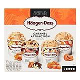 Häagen-Dazs - Crème Glacée Coffret de 4 Minicups Caramel Attraction 344g