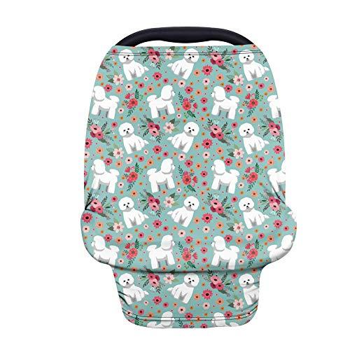 TOADDMOS Cubierta para asiento de coche con diseño de erizo floral, para lactancia, para cochecito de bebé y asiento de coche, fundas para lactancia, regalo perfecto para bebés