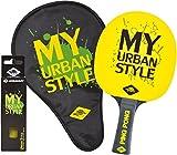 Donic-Schildkröt My Urban Style 400 Set de Raquette de Tennis de Table Mixte Enfant, Noir/Jaune