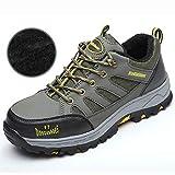 Zapatos de Trabajo Zapatos Viejos livianos con Puntera de Acero for Hombres, Zapatos de Sitio de Seguridad Resistentes al Desgaste y Desodorante de Malla Transpirable, Zapatos de Trabajo antidesgarro