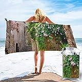 AllenPrint 20 Paseos románticos en la Toalla de baño Costa Brava, Toallas de SPA para Adultos Ultra absorbentes para Viajes Deportivos Deportivos,80x160cm