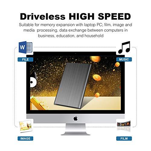 Disco Duro Externo 1tb USB 3.1 para Mac, PC, PS4,MacBook, Chromebook, Xbox (1tb, Azul) miniatura