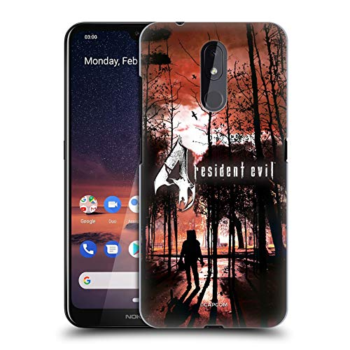 Officiële Resident Evil Affiche Game 4 Key Art Hard Back Case Compatibel voor Nokia 3.2