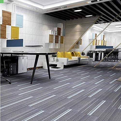 uyoyous Teppichfliesen 100 x 25cm, 3m² set in 12 Fliesen strapazierfähiger Büroteppich Bodenbelag Teppich mit Hochwertigem Schlingenflor antistatisch für Büro