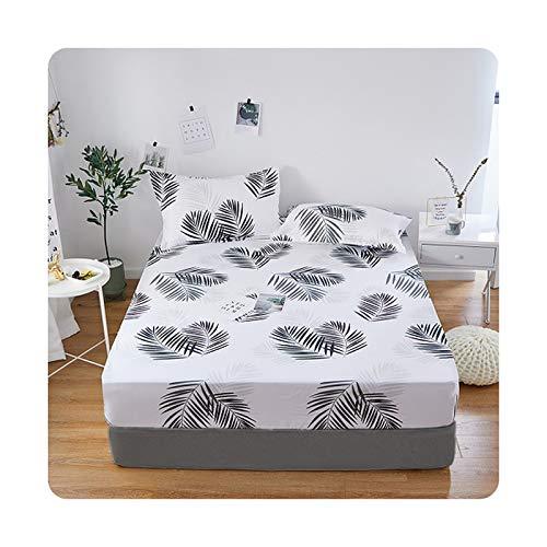 1 sábana bajera ajustable 100% poliéster, 4 esquinas con banda elástica (sin fundas de almohada) yefeng-140 x 200 x 25 cm