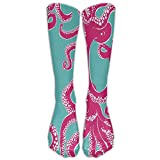 DaSOC Octopus Art Unisex Novelty Knee High Socks Athletic Tube Stockings One Size