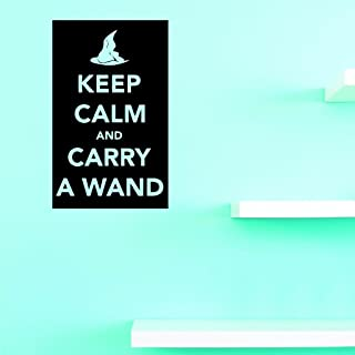 Design with Vinyl US V JER 3169 1 Top Selling Decals Keep Calm And Carry A Wand Wall Art Size: 10 Inches X 20 Inches Color: Black, 10