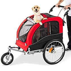 The Best Choice 2 in 1 bike trailer, stroller is a great choice for you and your pet