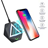 Wireless Charger, Hizek Qi 10W Fast Charging Pad Rapid Portable Charger for All QI-Enabled Devi…