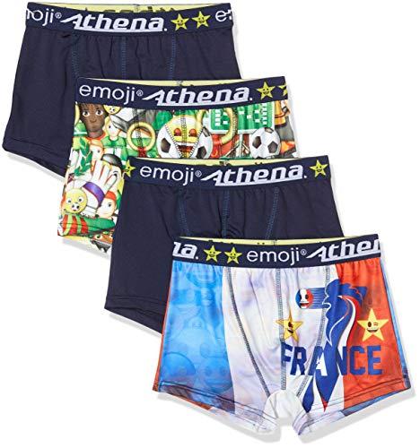 Athéna Herren Emoji Euro 2020 Unterwäsche 4er Pack, Cocorico/Multifoot, M