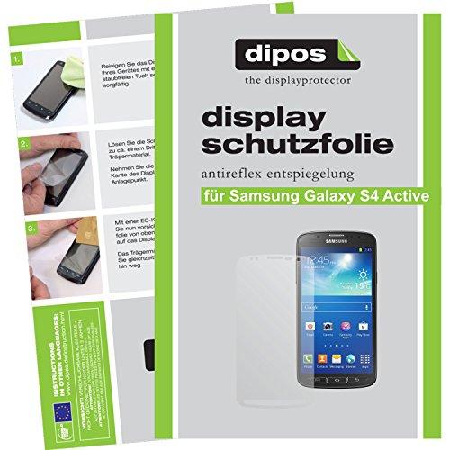 dipos I 2X Schutzfolie matt kompatibel mit Samsung Galaxy S4 Active Folie Displayschutzfolie