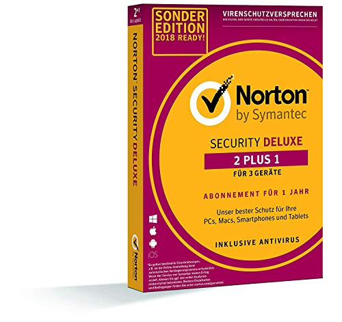 Norton Security Deluxe 2+1 Sonderedition 2019 |  3 Geräte PC/Mac/Smartphone/Tablet | Download
