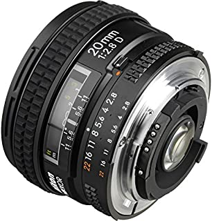 Nikon AF FX NIKKOR 20mm f/2.8D Fixed Zoom Lens with Auto Focus for Nikon DSLR Cameras