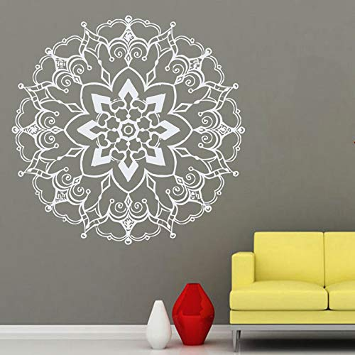 Lotus Applique Yoga Sticker Fitness Poster Vinyl Wall Sticker Mural Mural decorativo Yoga Sticker A3 58x58CM
