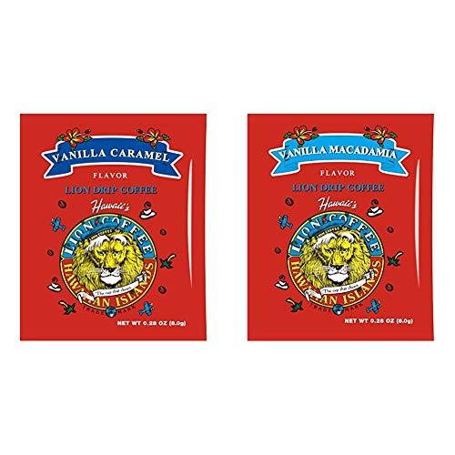 【セット買い】ライオンドリップコーヒーバニラキャラメル 8g×10袋 & ライオンドリップコーヒーバニラマカダミア 8g×10袋