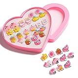 16 pares de pendientes de clip M?dchen, pendientes para niños sin oreja, pendientes de clip, juego con 2 cajas de ciruela, vestido de princesa, accesorios para niños pequeños, Material de resina,