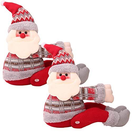 heekpek Weihnachten Vorhang Raffhalter Cartoons 3D Puppe Gardinen Raffhalter Santa Elk Schneemann Halte Schnallen Vorhang Binder Gardinenhalter für Haus Dekoration